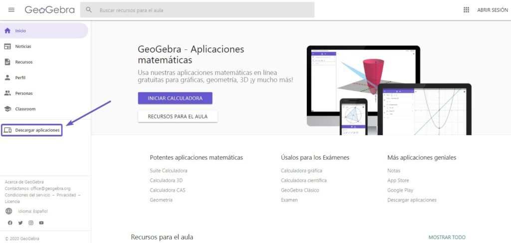 descargar geogebra para windows