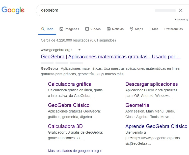 geogebra en google